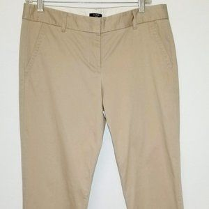 J Crew Khakis City Fit Stretch Size 6 pants